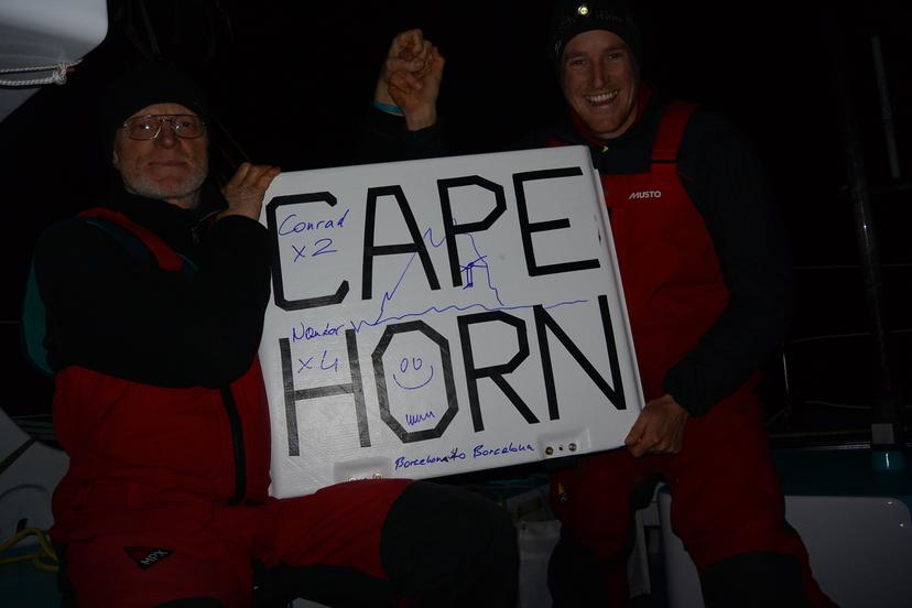 Fa and Colman Round Cape Horn on Spirit of Hungary and close the door of the Big South