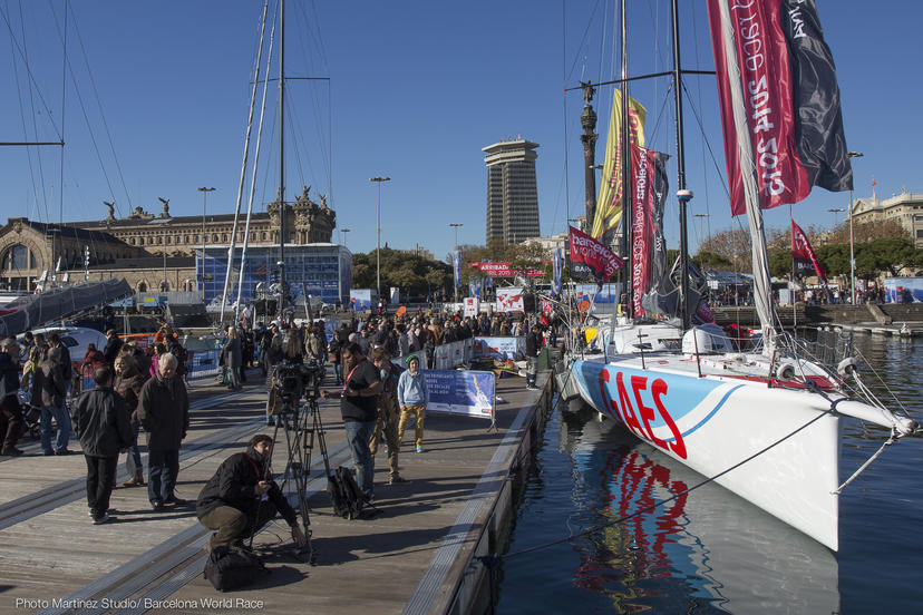 Last hours on land for the Barcelona World Race Skippers. Race record to fall?